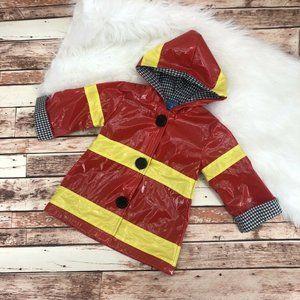 Mud Pie Baby Boys Fire Fighter Rain Coat Sz 12-18M